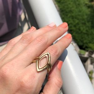 Lucky Brand Stacking Ring Rose and Gold Size 7